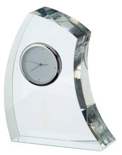 Dartington Crystal Crescent Clock - Large