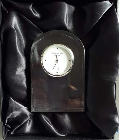 Dartington small curve clock + box