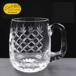 Lead Crystal Panelled Barrel Pint tankard