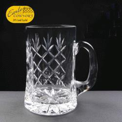 Lead Crystal Pint Panelled Tankard