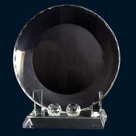 Optical Crystal Plate with stand - 8 inch